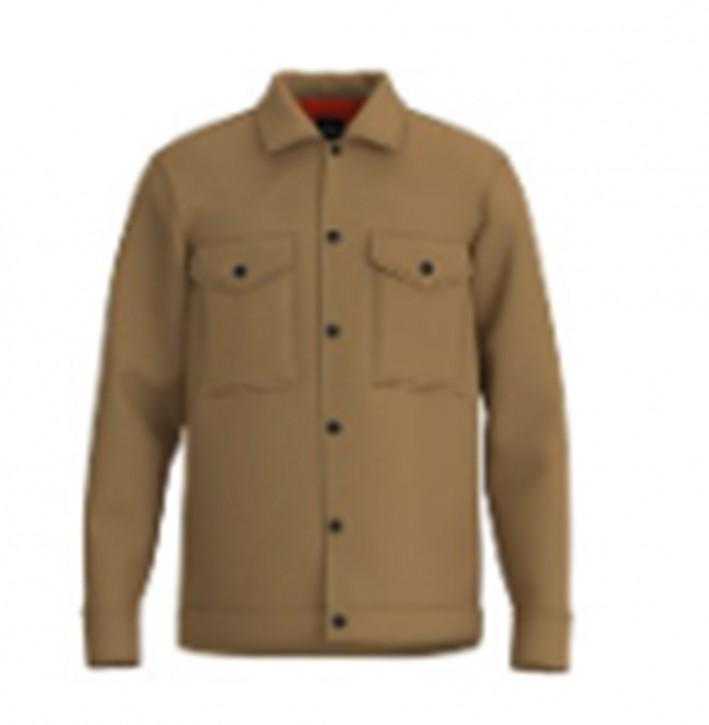 Hugo Boss Oversized Overshirt Lom_1 aus Wolle mit Knopfverschluss Farbe braun 262