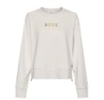 Hugo Boss Hugo Boss Damen Sweat C_Elia_Gold mit Reißverschluss und Gold Logo open white 118