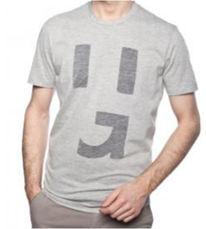 HUGO T-SHIRT DICONO GRAU/WHITE 100