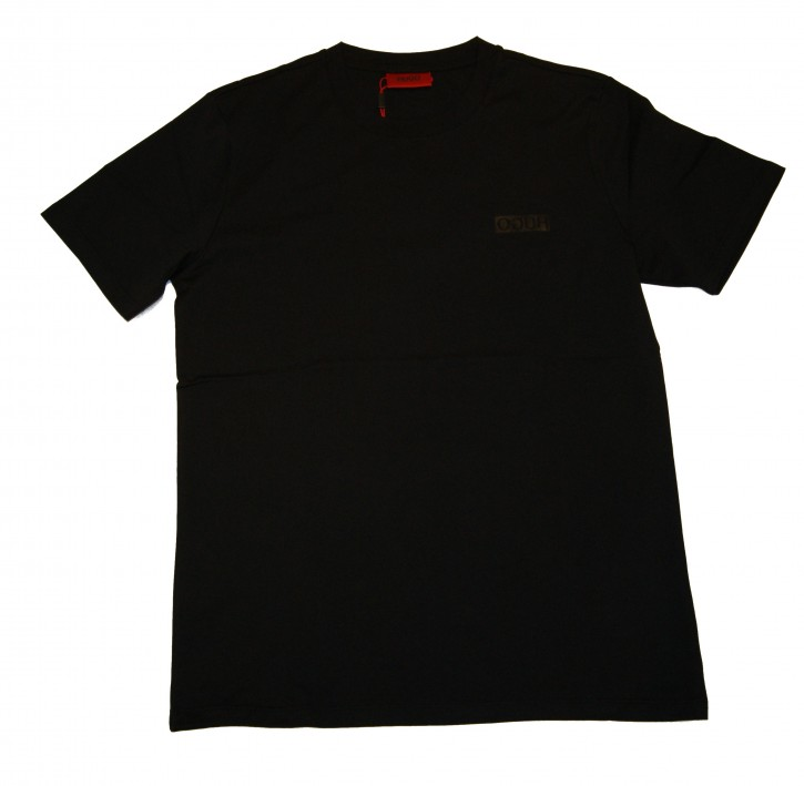 HUGO Oversized T-Shirt Durned-U3 aus Baumwoll-Jersey mit spiegelverkehrtem Logo schwarz 001