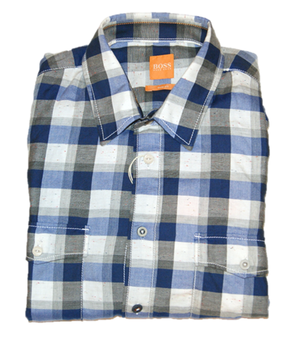 BOSS ORANGE HEMD EDASLIME FARBE BLAU 449