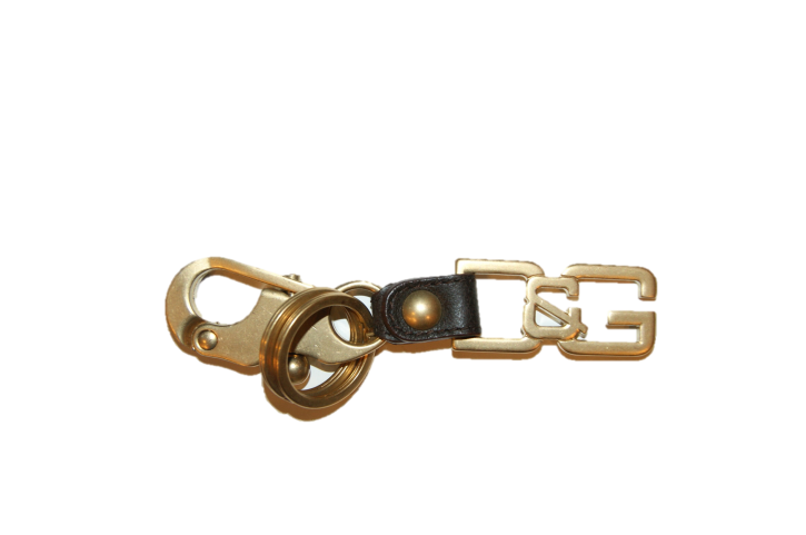 D&G KEYRING GOLD