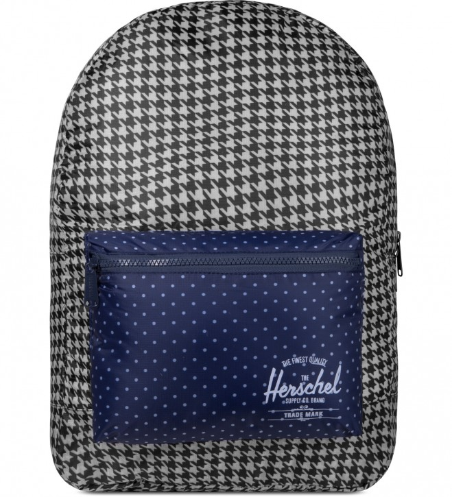 HERSCHEL PACKABLE DAYPACK FARBE HOUNDSTOOTH/NAVY POLKA DOT