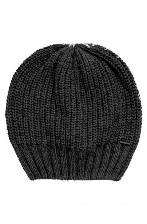 BOSS Mütze  FINJA aus Material-Mix mit Kaschmir schwarz 001