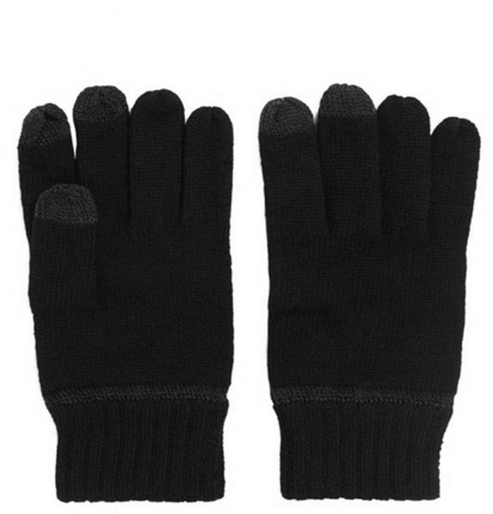 BOSS ORANGE Touchscreen-Handschuhe GRASS-3 aus Schurwoll-Mix Farbe 001