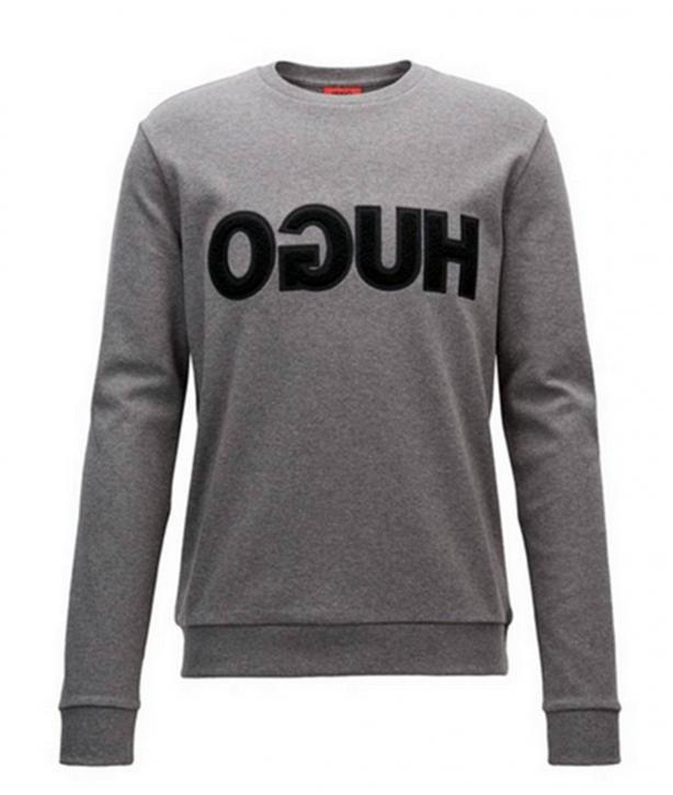 HUGO Logo Sweatshirt DICAGOR Farbe grau 081
