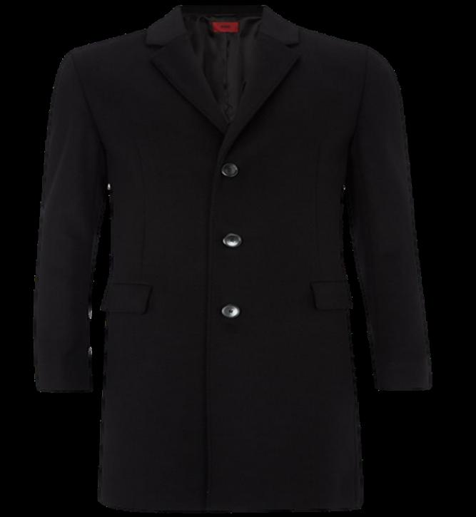 HUGO Slim-Fit Mantel MIGOR2 aus Schurwoll-Mix mit Kaschmir Farbe schwarz  001