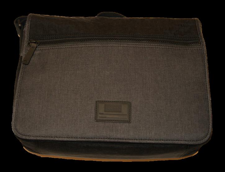 BOSS ORANGE Messenger Bag HYBRID MESS FLAP aus Stoff und Nylon Farbe grau 021
