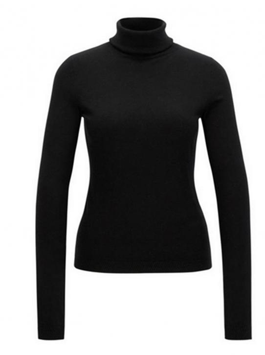 BOSS ORANGE Slim-Fit Rollkragen Pullover IDDYANA aus Baumwoll-Mix mit Seide Farbe schwarz 001