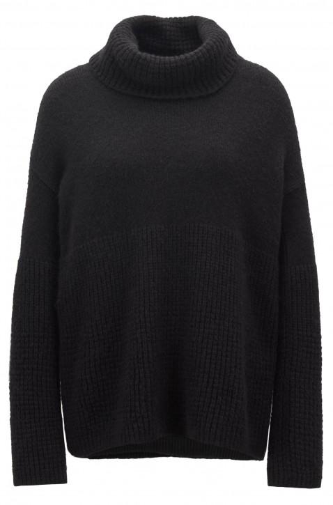 BOSS Pullover Ikallah mit breitem Rollkragen Farbe schwarz 001
