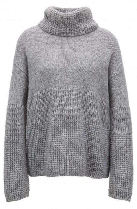 BOSS Pullover Ikallah mit breitem Rollkragen Farbe grau 045