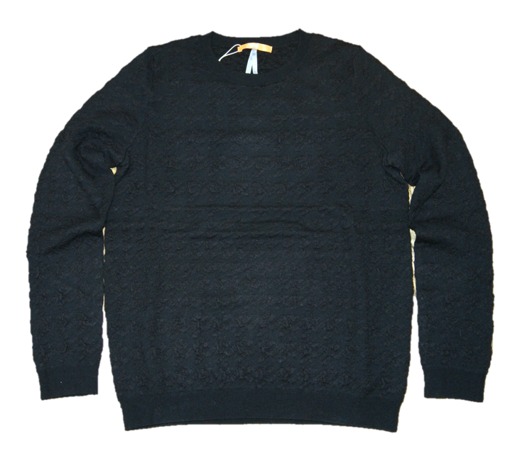BOSS ORANGE Strickpullover IONNA mit tonalem Hahnentritt Muster Farbe schwarz 001