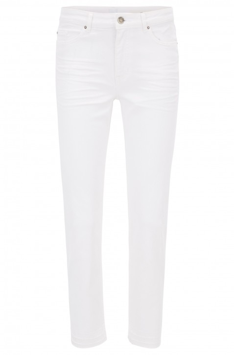 BOSS Relaxed-Fit Jeans J60 Indiana BLanco Stretch-Denim in Cropped-Länge natur 101