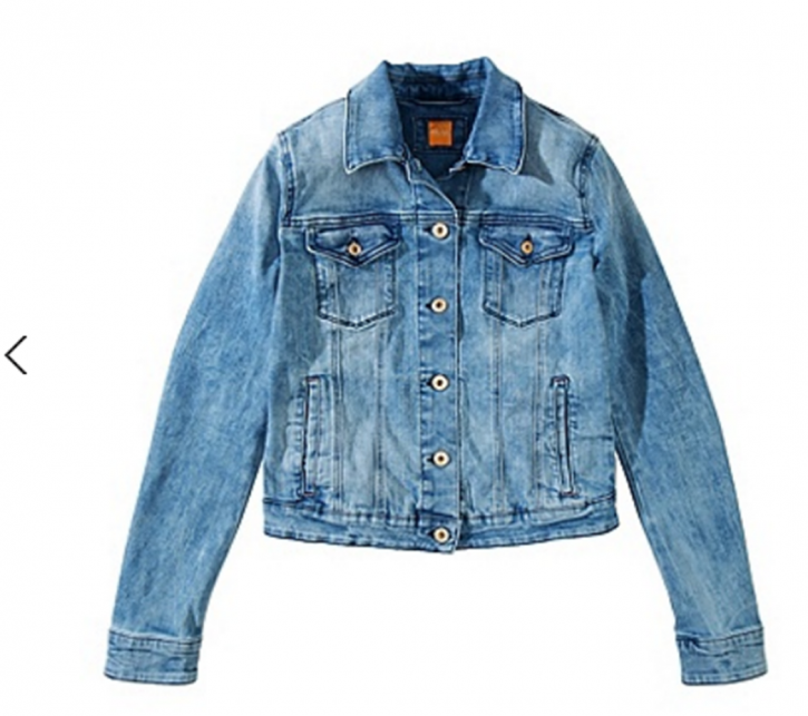 BOSS ORANGE JEANSJACKE LOUISYA FARBE LIGHT BLUE 446