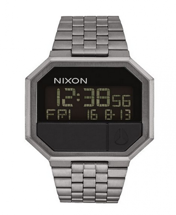 NIXON 80er JAHRE Re-Run 38,5mm Farbe all gunmetal