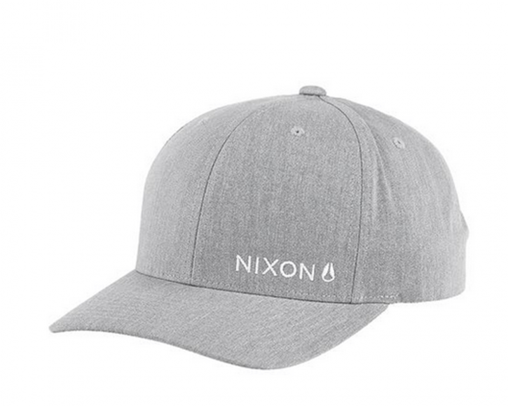 NIXON Lockup Snapback Cap Farbe heather gray