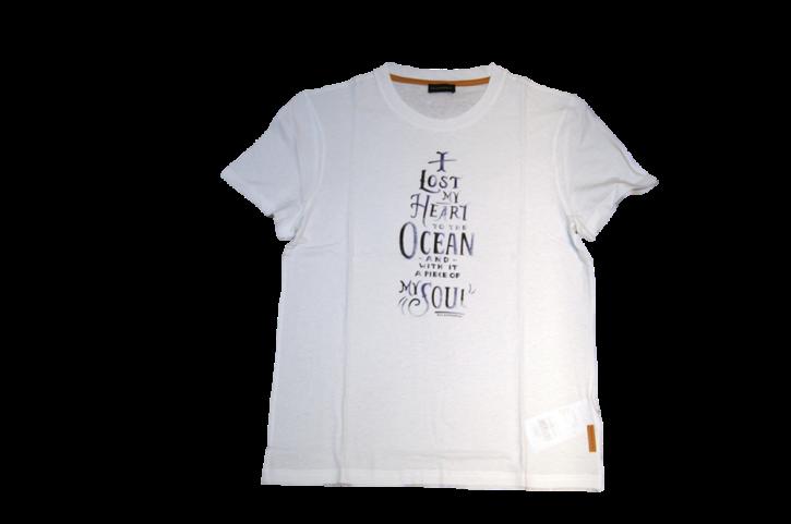 BALDESSARINI T-SHIRT OCEAN FARBE WEISS 100