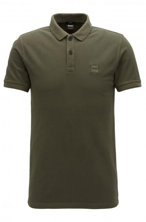 BOSS ORANGE Slim-Fit Poloshirt Prime aus gewaschenem Baumwoll-Piqué dunkelgrün 302