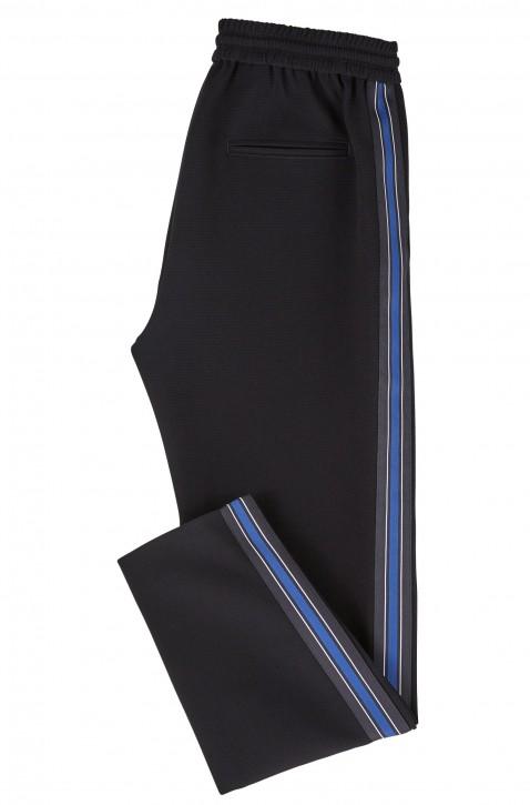BOSS Regular-Fit Krepp-Hose SAFALIR mit Seitenstreifen Farbe dunkelblau 480