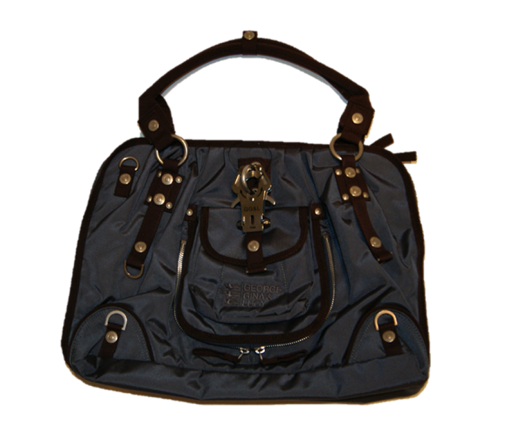 GEORGE GINA & LUCY HANDTASCHE SEXY STRAPPY FARBE BROWN-BLUEGREY 650