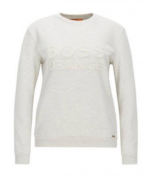 BOSS ORANGE Sweatshirt aus Baumwolle mit Logo-Stickerei Talogo Farbe natur 116
