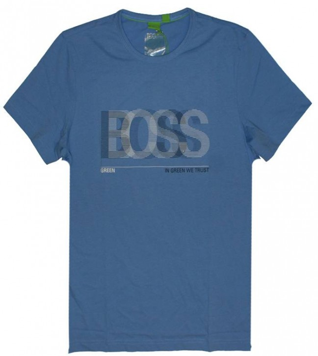 HUGO BOSS Green T-Shirt TEE 2 FARBE 437 BLAU