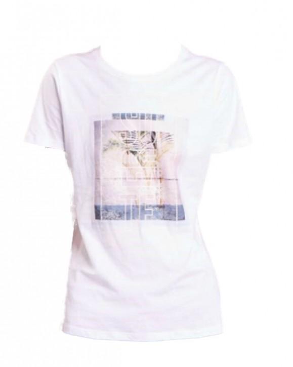 BOSS T-Shirt Tepicture aus gewaschenem Baumwoll-Jersey mit Grafik-Print weiss 100