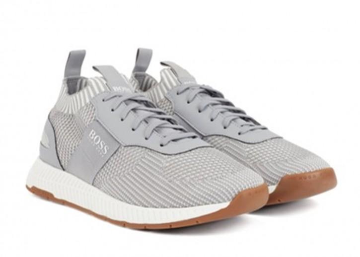 BOSS Sneakers TITANIUM_ RUNN_ SCAFE aus Material-Mix mit nachhaltigem S.Café®-Garn grau 050