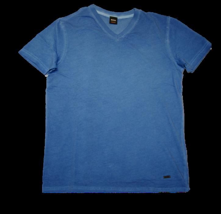 BOSS Regular-Fit T-Shirt Tyxx aus Baumwolle mit V-Ausschnitt Farbe blau 454