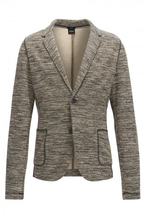 BOSS Slim-Fit Sakko Walentino aus meliertem Material-Mix mit Baumwolle grau 051