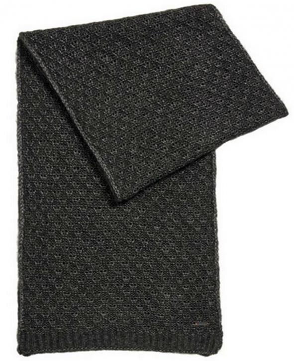 BOSS ORANGE Strickschal WARLETTA aus Material-Mix mit Alpakawolle und Wolle Farbe khaki 013