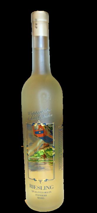 WUPPERTALER Schwebebahn Sammelflasche Riesling Wein Hergestellt Bernkastel Kues 750 mle